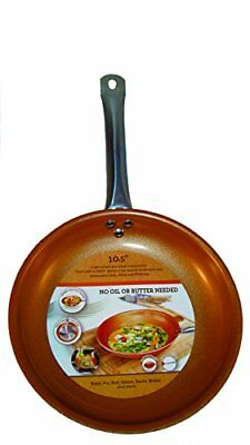 Titanium Steel Frying Pan Ceramic Infused Non Stick Copper Induction 10.5 Inches