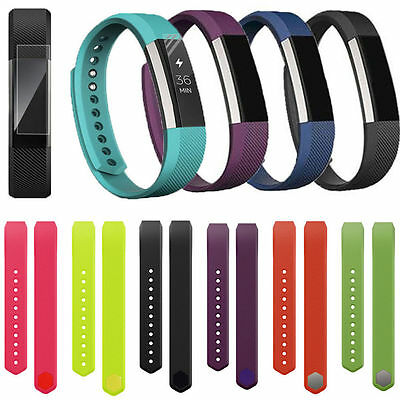 Replacement Silicone Rubber Wristband Watch Band Strap For Fitbit Alta UK