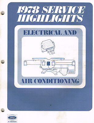 1978 Ford FoMoCo Service Highlights Manual Air Conditioning 69 Pages  M348