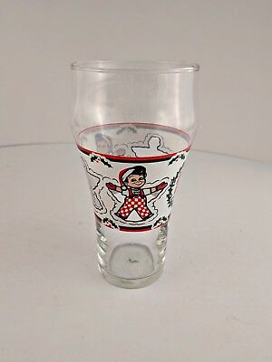Big Boy Christmas Holiday Glass from Big Boy Restaurant - Very Good Condition
