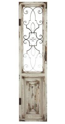 Distressed Vintage Antique Shabby Wood Metal Garden Gate Door Wall Art Panel NEW