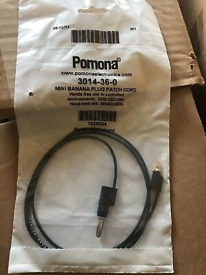 Pomona Stacking Banana Plug Patch Cord, black, 3014-36-0 (lot of 7)