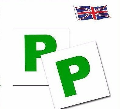 2 x MAGNETIC PASSED PASS NEW DRIVER GREEN P PLATE PLATES FOR CAR VEHICLE CHEAP