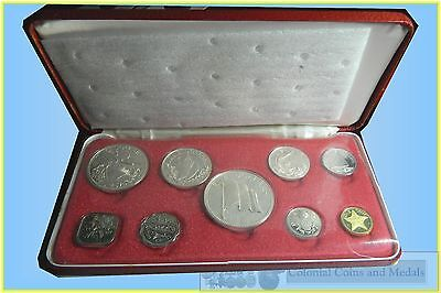 Bahamas :- 1974 Proof 9 Coins Set including 4 Silver.....  FDC