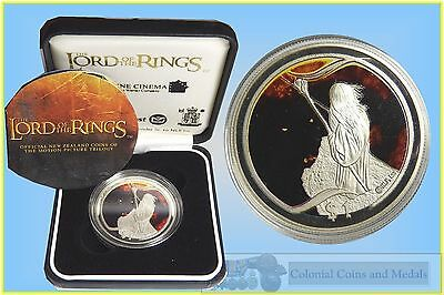 "NZ. - 2003 Lord of the Rings ""the Bridge of Khazad Dum "" $1  Silver Proof"