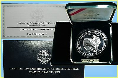 USA. :- 1997 Law Enforcement Officer's Silver Proof Dollar