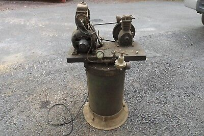Vintage Air Compressor  Cast iron Antique Vtg Hit Miss