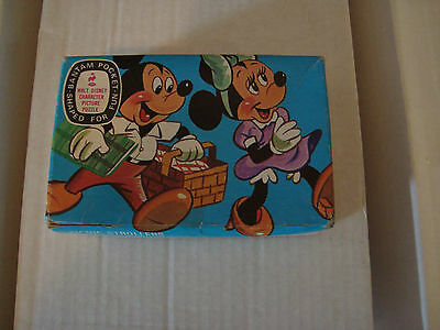 Walt Disney Mickey Mouse Bantam Pocket Puzzle Collection Vintage 1961 VG / EX