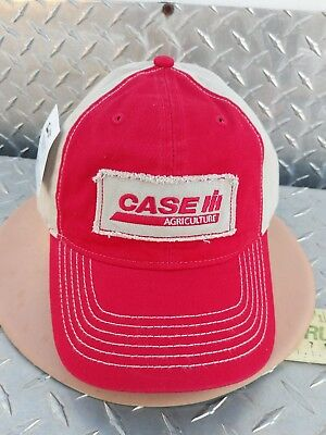 Case IH red almond cotton twill Cap embroidered cloth Hat brand new licensed