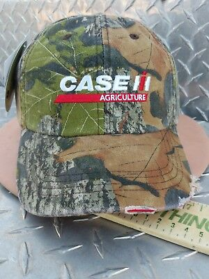 Case IH mossy oak Camo trucker Cap hat distressed bill 100% twill cotton new 309cc6be9b38