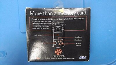 Original Sega Dreamcast Blue Visual Lcd Memory Unit Card Vmu Genuine