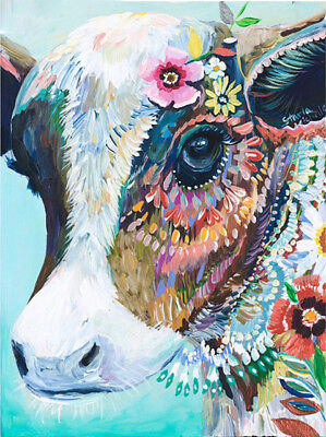 5D DIY Full Diamond Canvas Embroidery Painting Cross Stitch 20*25cm Z037 S3 Cow