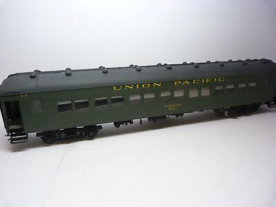 Precision Scale Co. O brass Harriman car. Painted Union Pacific 711, boxed.
