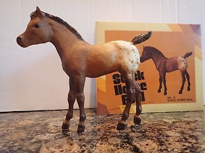 Vintage New In Box 1970 Breyer Horse #17 Stock Horse Foal Brown Spotted Blanket