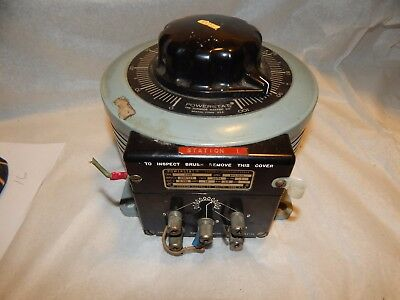 Superior Electric Co. Powerstat, Type 236B, 240/120 Variable Auto Transformer