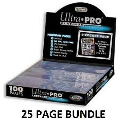 Ultra Pro 9 Pocket Pages - Platinum Series - 25 Pages