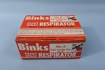 Vintage Binks MSA 40-28  Single Cartridge Paint Respirator In Box