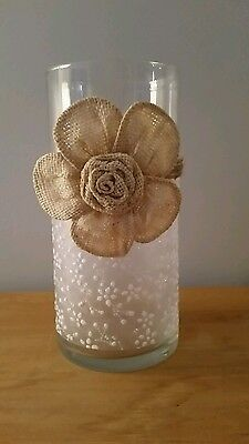 Handcrafted Glass vase or candle holder