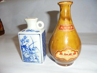Vintage miniture liquor bottles x 2 from Japan and China