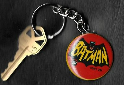 1966 Topps Batman Wrapper 5 cents Keychain Key Chain