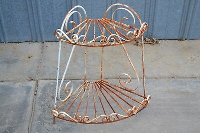 Wrought Iron Corner Plant Stand Rustic