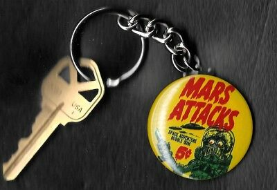 1962 Topps Wrapper Mars Attacks 5 cents Keychain Key Chain