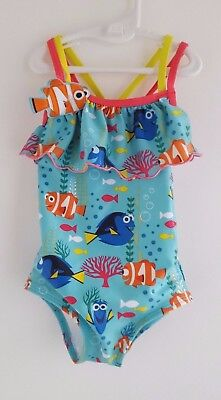 DISNEY Finding Dory Swimsuit Swimming Costume for Baby Girls Size 2 Years EUR 92
