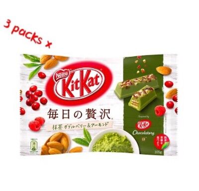 3Packs X Japanese Snack Nestle Kitkat  Matcha Green Tea Berry Almond Chocolate