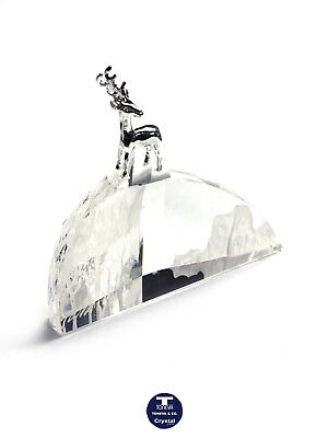 "[SPECIAL OFFER] ""Reindeer Standing on a Mountain"" Austrian Crystal Paperweight"