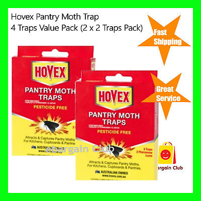2 x Hovex Pantry Moth Traps Pesticide Free Non-Toxic 2 Trap Pack eBC