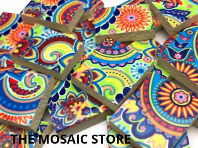Handmade Ceramic Tiles Paisley Pattern - Art & Craft Supplies