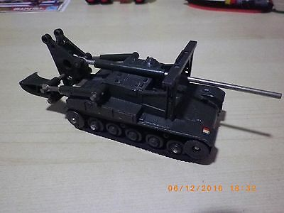 DINKY TOYS ORIGINAL MILITAR TANK CHAR A.M.X. AMX - MADE IN FRANCE -NO BOX- 187gr