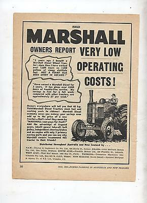 Field Marshall Tractor Advertisement removed from 1953 Farming Magazine