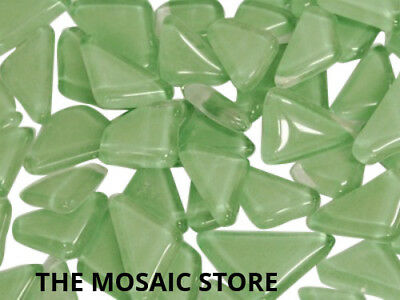 Light Green Crystal Glass Mosaic Tiles Irregular - Art Craft Supplies