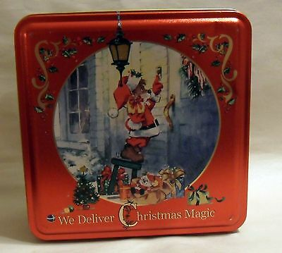 THE SWISS COLONY CHRISTMAS vintage tin signed H. ENDRES  Christmas mouse Vintage