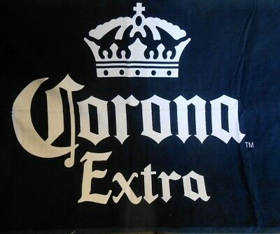 New Corona Extra Blue Label Beer Beach Bath Pool Gift Towel Cerveza Logo 30x60