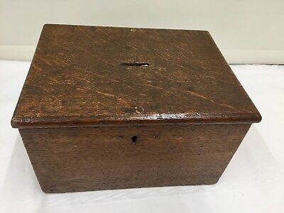 Georgian Oak Collection Box circa 1795