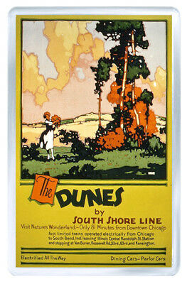 The Dunes South Shore Line Vintage Repro Fridge Magnet Souvenir Iman Nevera