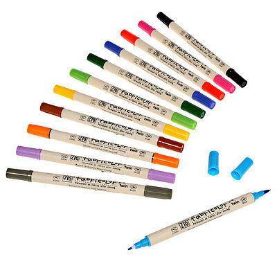 Zig Fabricolor Dual Tip Fabric Markers