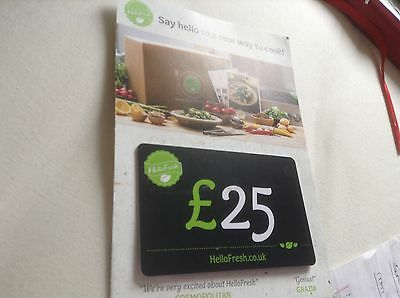 £25 Hello Fresh Brand New Gift Card Claim £25 Off Your First Box