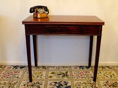 Antique Folding Top Card / Side / Console Table