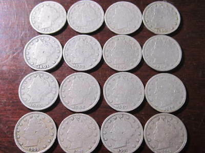 LIBERTY NICKEL SET  (1887-1912) - 16 pc run of coins - No dupes - Great Starter