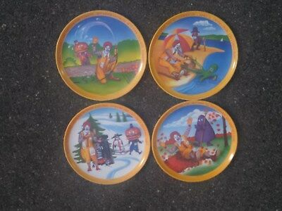 Complete Set of 4 McDonald's PLATES for the 4 Seasons 1977 - Unused