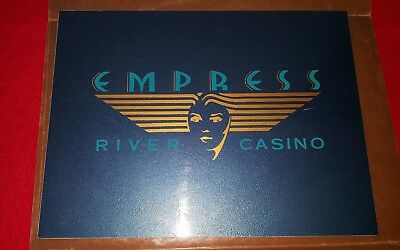 "Metal Empress River Casino Sign. Measures 9"" X 12"". Free Shipping!!"