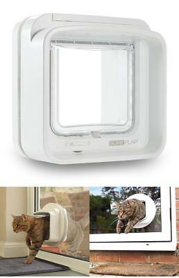 Genuine Microchip Pets Door Large Cat Flap Small Dog Big Cat White New UK Fast