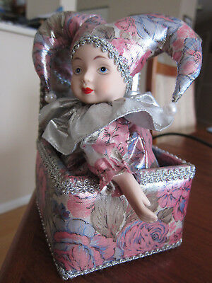 """Vintage Music Box Porcelain Clown, Animated by SAMACO """"Send in the Clowns"""""""