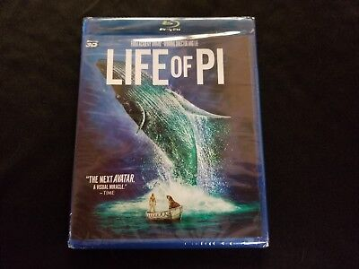 Life Of Pi 3D Blu ray+Blu ray New, Lot E2.