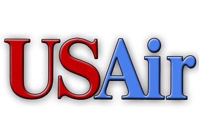 """USAir Airlines (90's) Logo 3.25""""x2.25"""" Collectibles Fridge Magnet (LM14153)"""