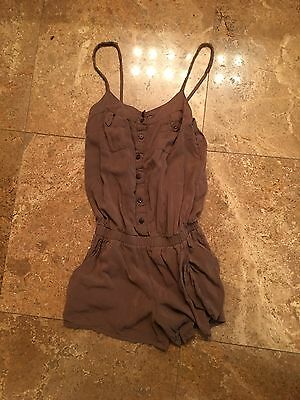 Brown jumper romper small