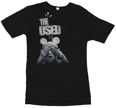 The Used Mens T-Shirt  - The Bear Doesnt See Image On Black